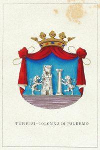 Stemma-araldico-della-famiglia-Turrisi-Colonna -Inserita nell'opera Storia delle Famiglie Illustri Italiane, Firenze, Ulisse Diligenti, fine '800 - 2.
